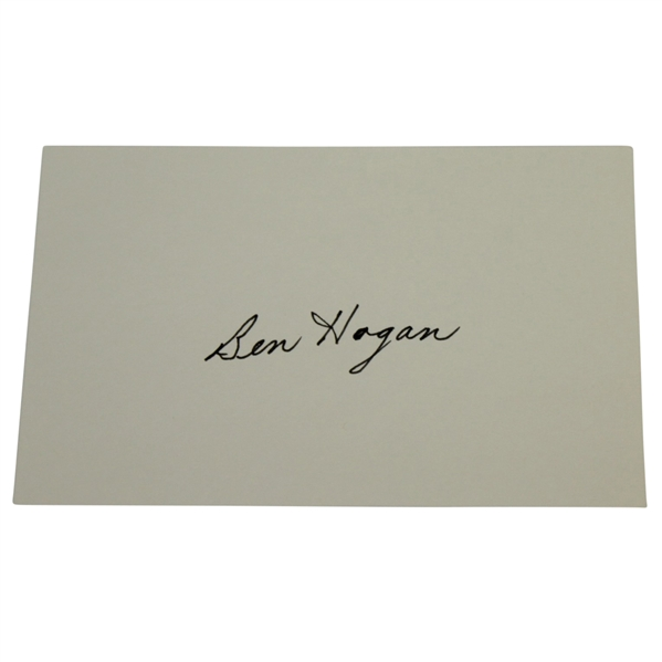 Ben Hogan Signed 4x6 Card JSA ALOA