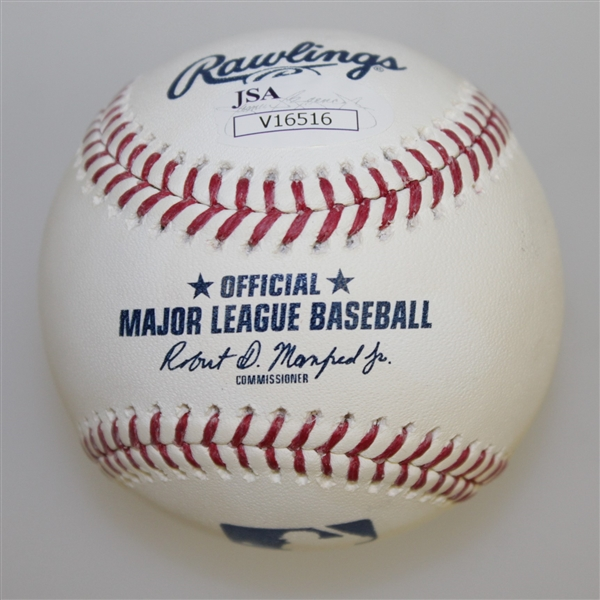 Patrick Reed Signed Rawlings Baseball with 'Captain America' Inscription JSA #V16516