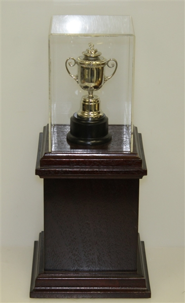 1999 PGA Champions Dinner Gift from Vijay Singh - Replica Wanamaker Trophy on Stand with Plate
