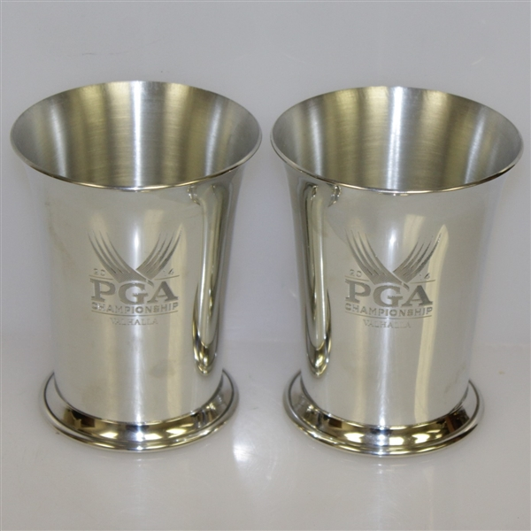 2014 PGA at Valhalla Champions Dinner Attendee Gifts - Two Tiffany & Co. Pewter/Silver PGA Cups