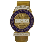 1962 PGA Championship at Aronimink GC Contestant Badge - Gary Player Winner
