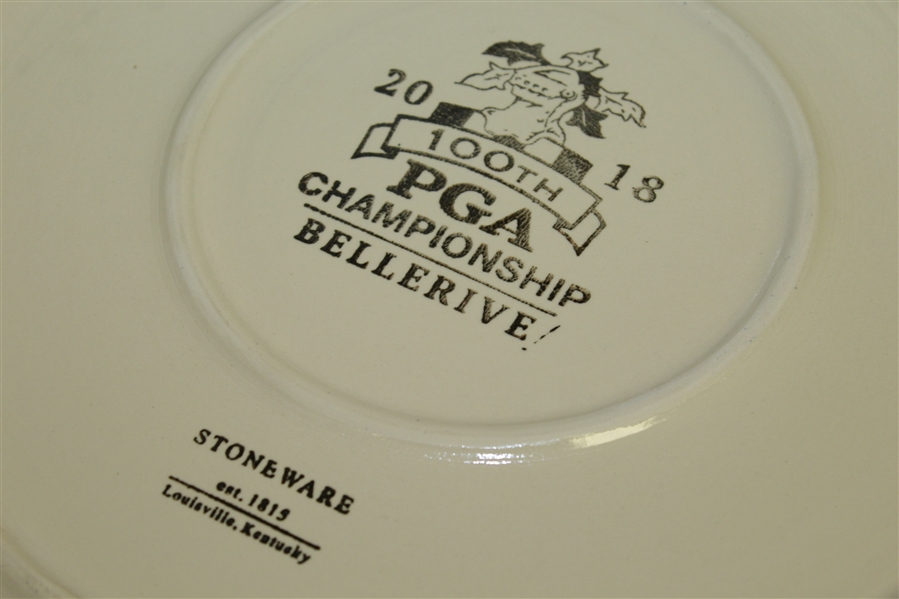 2018 PGA Champions' Dinner Gift from Justin Thomas - Plate Given to Past Champions @ Bellerive