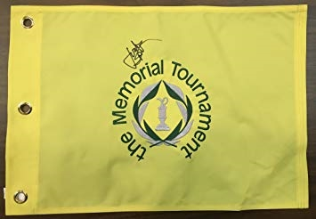 Jordan Spieth Signed The Memorial Tournament Flag - PSA/DNA Full Letter