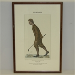 "Framed Sportsmen ""Golf"" Print - ""What does it profit a man to gain the...."""