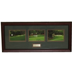 Augusta National Golf Club Amen Corner Photo Display with Nameplate - Framed