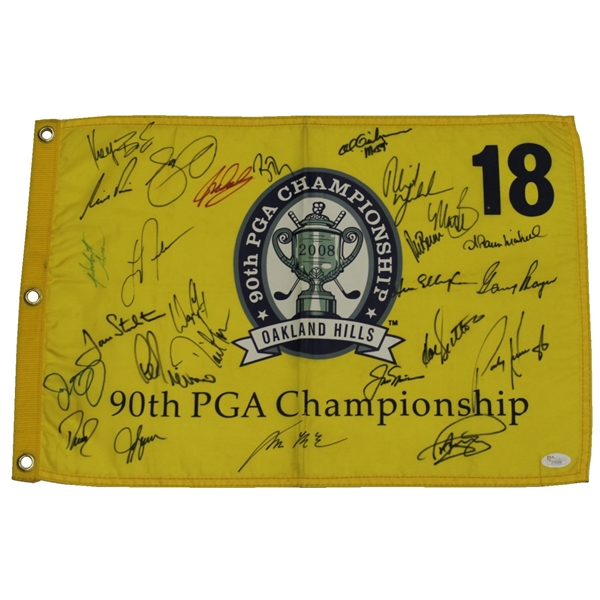2008 PGA Championship CHAMPS Flag - Nicklaus, Mickelson, Player, McIlroy & More JSA #Z09268