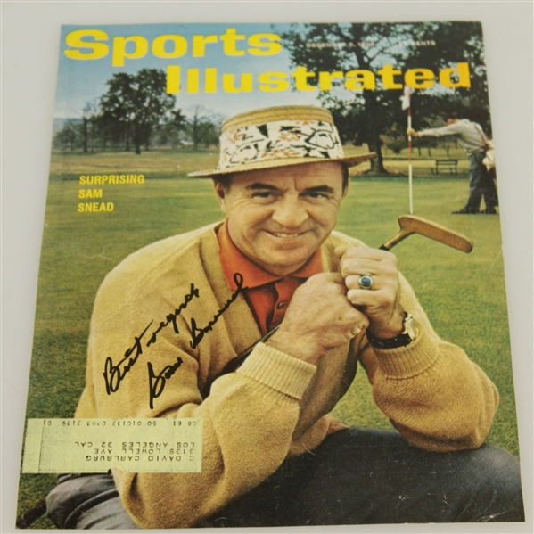 Sam Snead Signed Sports Illustrated Page 12/5/1960 JSA ALOA