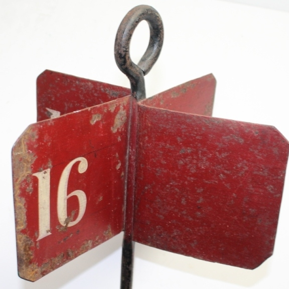 Vintage English Hole Marker #16