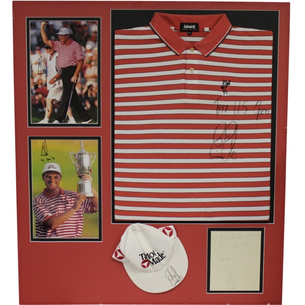 Ernie Els Signed 1997 US Open Final Rd Winning Sunday Worn Shirt & Hat! JSA ALOA