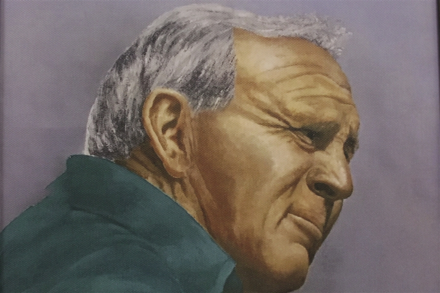 Arnold Palmer Ltd Ed 16/25 Artists Proof Canvas Portrait Painting by Bill Waugh