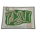 Evanston Golf Club Course Map Aerial View Tray/Dish - Skokie, Il.