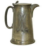 Sheffield England Pewter Pitcher w/ Crossed Clubs & Golf Ball