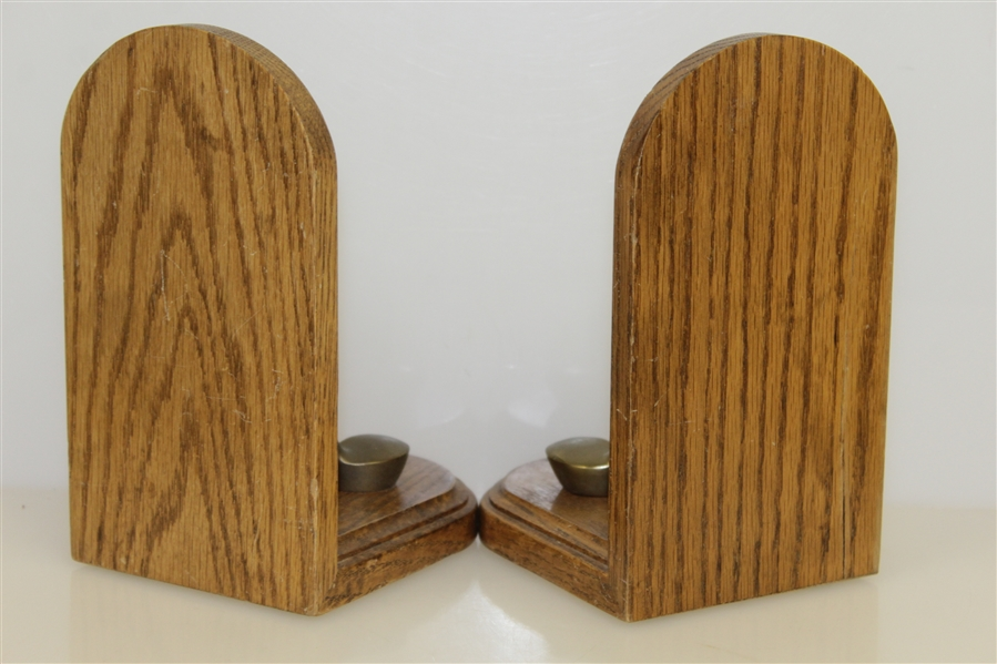 Classic Wooden Club & Ball Bookends