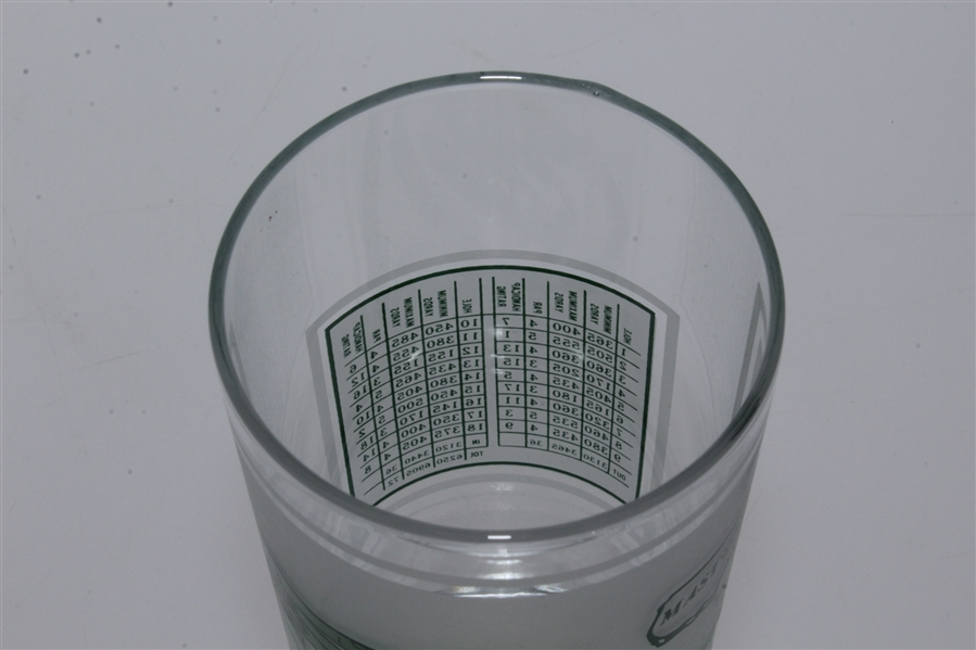 Vintage Masters Drinking Glass Featuring Augusta National Course Layout