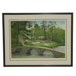 Byron Nelson Signed Ltd Edition The 12th At Augusta Helen Rundell #180/250