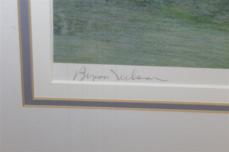 Byron Nelson Signed Ltd Edition 'The 12th At Augusta' Helen Rundell #180/250