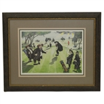 The Perfect Putt Ltd Ed 170/300 Lithograph Signed by Artist Martin Holt