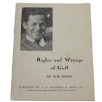 1935 Bobby Jones Rights and Wrongs of Golf Booklet