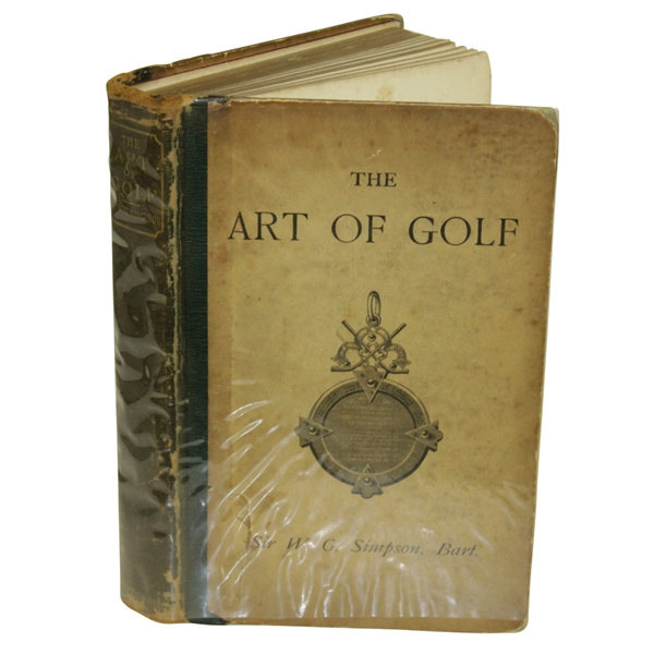 1887 'The Art of Golf' 1st Edition Book by Sir W. G. Simpson