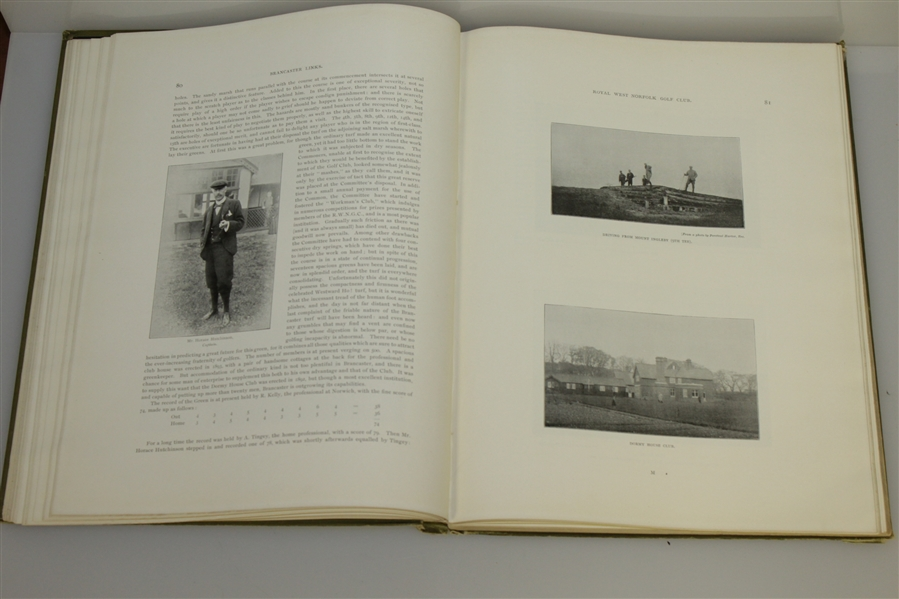 1897 1st Edition 'British Golf Links' Book by Horace Hutchinson - Very Good Condition