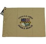 2000 US Open Pebble Beach Canvas Flag w/ Hang Tag - Highly Coveted