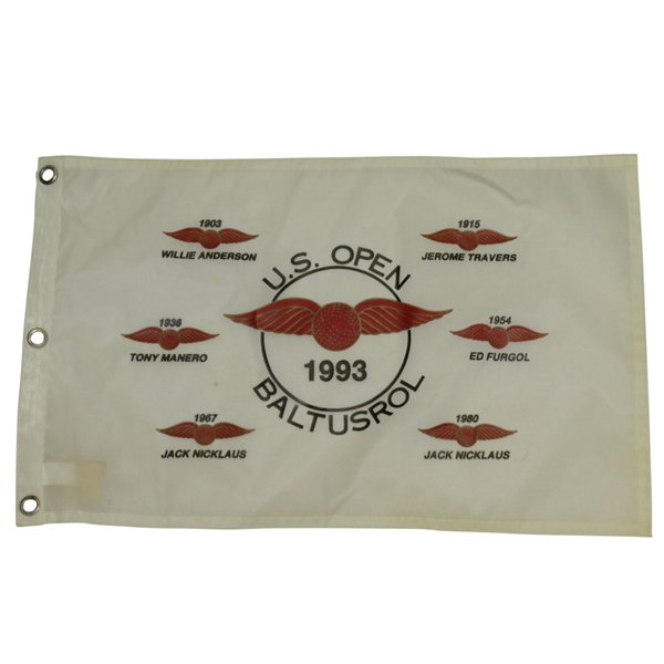 1993 US Open at Baltusrol Flag - Featuring Former Baltusrol Champions