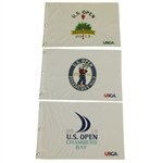 2013, 2014 & 2015 US Open Embroidered Flags - Spieth, Kaymer and Rose Victories