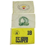 1993, 1994 & 1995 US Senior Open Flags - Jack Nicklaus, Hobday & Weiskopf Victories