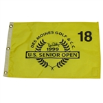 Dave Eichelberger Signed 1999 US Senior Open Flag at Des Moines CC JSA ALOA