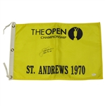 Jack Nicklaus Signed 1970 Open Championship Flag at St Andrews w/ 1966-70-78 Inscription JSA Full Z93636