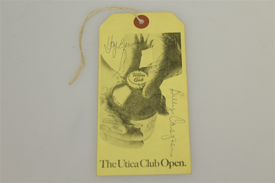 Arnold Palmer Signed 1968 US Open Ticket w/ Player, Brewer, Casper etc. JSA ALOA