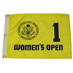 Tournament Used Womens US Open Yellow Flag - Hole #1