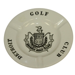 Vintage Detroit Golf Club Ashtray - Site of Palmers US Amateur Win - Royal China