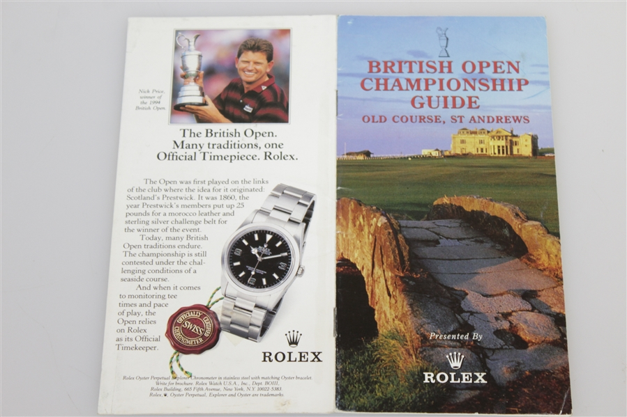 Arnold Palmer Signed 1995 Open Championship at St Andrews Guide - Last Open JSA FULL #AA10873