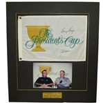 Jack Nicklaus & Gary Player Signed 2003 Presidents Cup Flag Presentation JSA ALOA