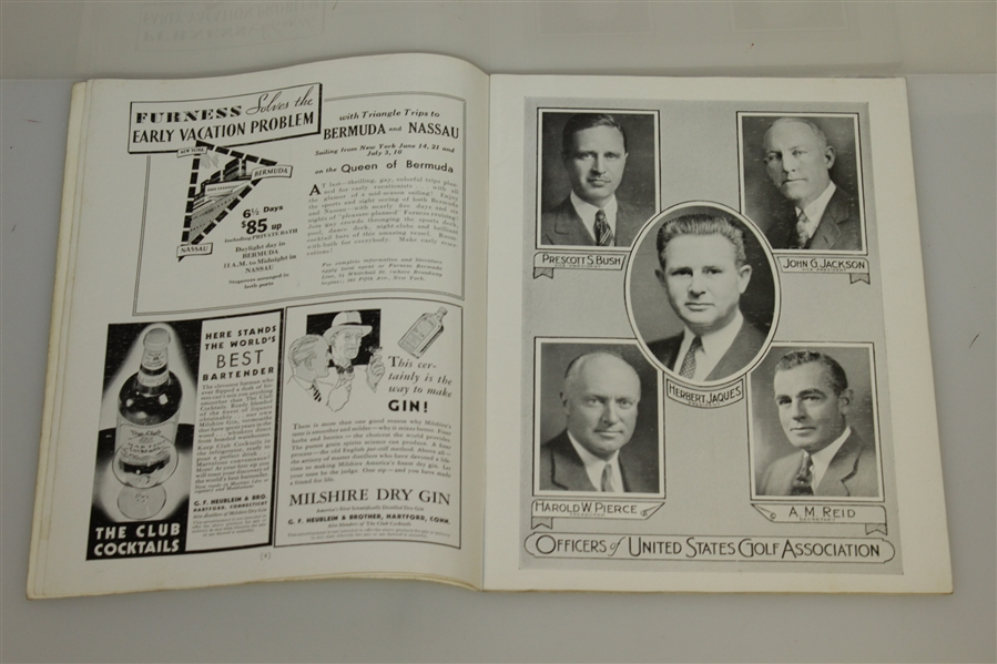1934 US Open Championship at Merion Cricket Club Program - Olin Dutra Winner