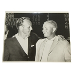 Jack Nicklaus & Arnold Palmer 1961 Meeting Original UPI Wire Photo - Earliest Photo Together