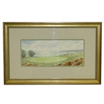 "Highland Links (1892) Cape Cod Mass"" Original Framed Watercolor Painting Signed by Artist"