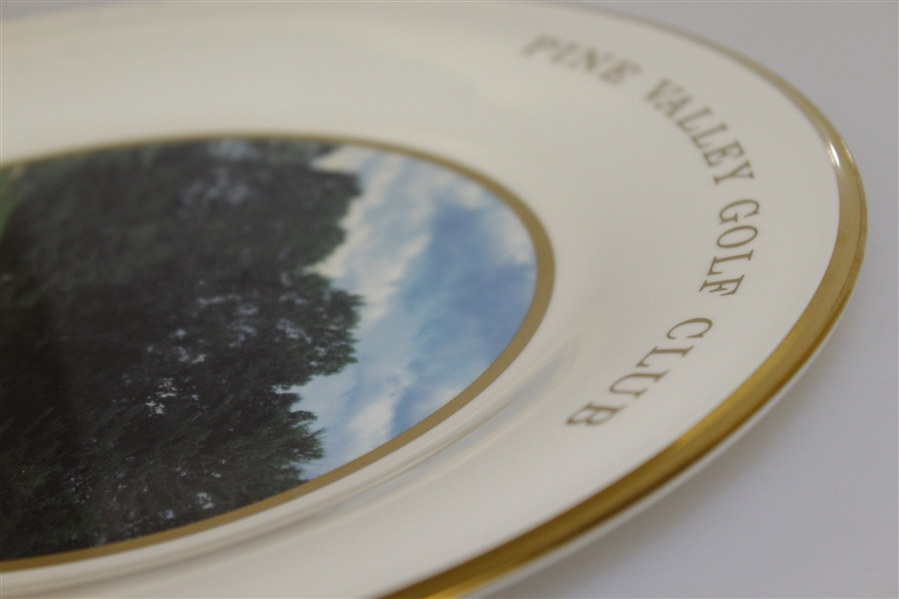Pine Valley Golf Club Warner Shelly Bowl Ceramic Plate - Featuring 8th Hole