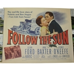 Authentic Follow the Sun Ltd Ed Theatrical Release Movie Litho-Poster