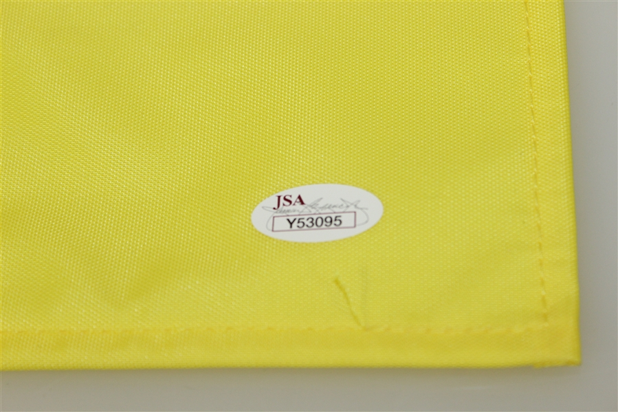 Phil Mickelson Signed Undated Masters Embroidered Flag JSA FULL #Y53095