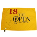Jordan Spieth Signed 2017 Open Championship at Royal Birkdale Flag Sports Collectibles #029325