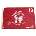 Martin Kaymer Signed 2014 US Open at Pinehurst No. 2 Flag JSA #L57679