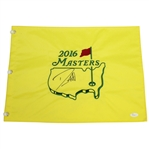 Danny Willett Signed 2016 Masters Embroidered Flag JSA #P67595