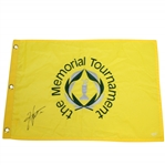 Hideki Matsuyama Signed The Memorial Tournament at Murfield Flag JSA ALOA