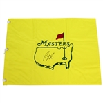 Patrick Reed Signed Undated Masters Embroidered Flag JSA Full #AE06296