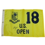 Steve Jones Signed 1996 US Open at Oakland Hills Flag JSA ALOA