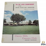 1960 US Open at Cherry Hills CC Official Program - Arnold Palmer 2nd Major Victory