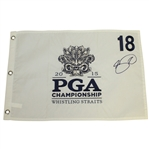 Jason Day Signed 2015 PGA Championship at Whistling Straits Embroidered Flag JSA ALOA