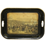 The Golfers by Artists Charles Lee & Chas. E. Wagstaffe Serving Tray - Reproduction of 1841 Piece